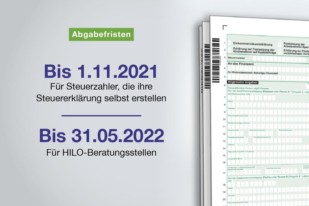 Termin: Steuererklärung 2020